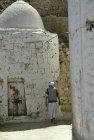 Man outside Great Mosque, Jibla, Yemen