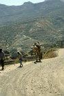 Two men and camel, Jibla, Yemen