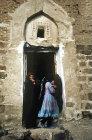 Woman at mosque, El Abbas, Yemen