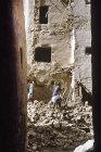 Ancient carved mud brick buildings, Yemen