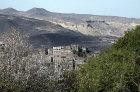 Hadda, view through trees to village, near Sana