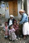 Old men and children, Hadda, near Sana