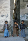 Children playing in street, Sana