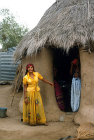 Woman outside her home, North African village, Tihama, Yemen