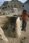 Clay oven in north African village, Tihama, Yemen