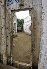 View through doorway, Zabid, North Yemen