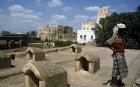 Roof vents for grain, Zabid, North Yemen
